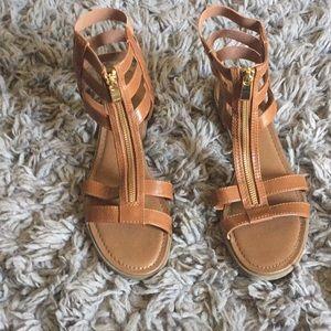 Tan Mossimo Gladiator Sandals